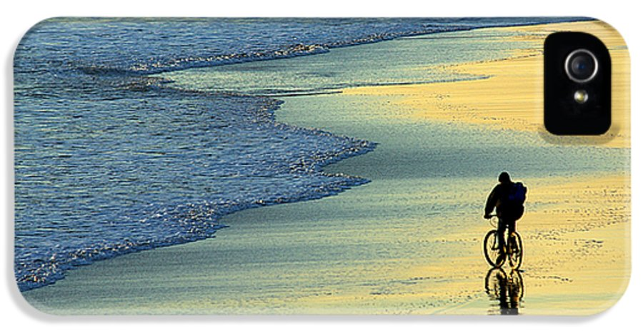 Active IPhone 5 Case featuring the photograph Beach Biker by Carlos Caetano