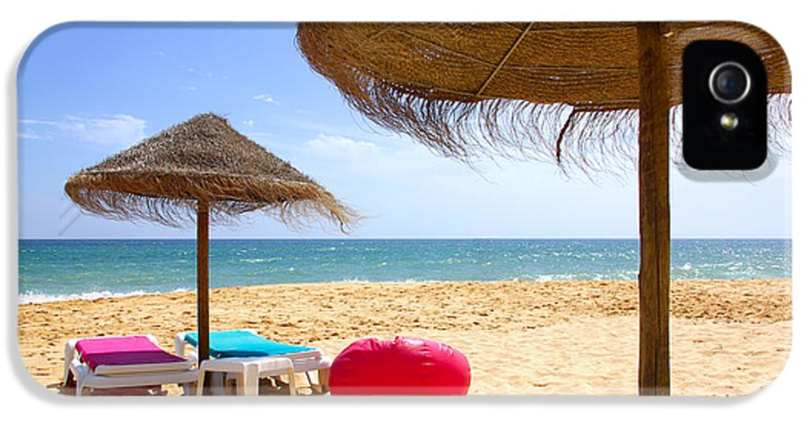 Algarve IPhone 5 Case featuring the photograph Beach Relaxing by Carlos Caetano