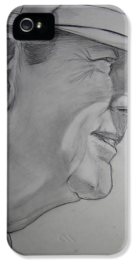 Football IPhone 5 Case featuring the drawing Bear Bryant by Nigel Wynter