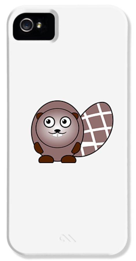 Beaver IPhone 5 Case featuring the digital art Beaver - Animals - Art For Kids by Anastasiya Malakhova