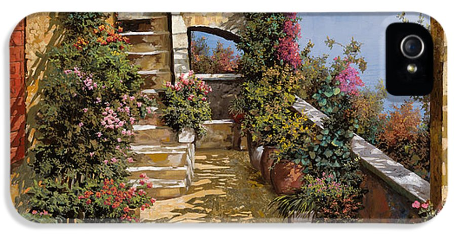 Terrace IPhone 5 Case featuring the painting Bello Terrazzo by Guido Borelli
