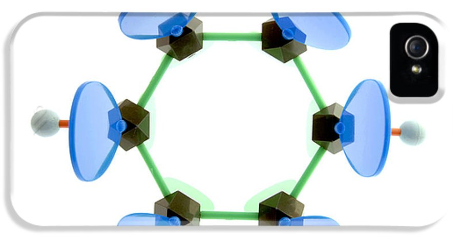 Phenyl IPhone 5 Case featuring the photograph Benzene Molecule by Lawrence Lawry