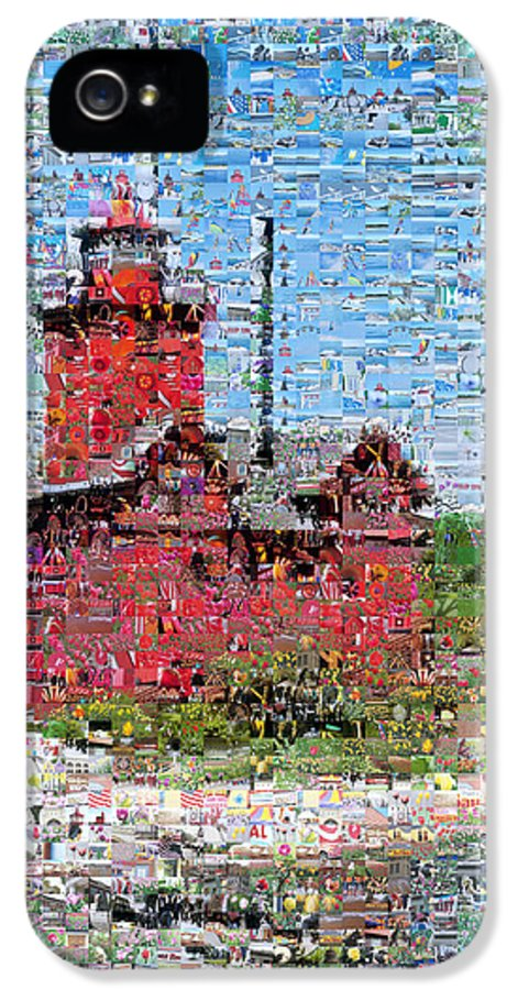 Lighthouse IPhone 5 Case featuring the photograph Big Red Photomosaic by Michelle Calkins