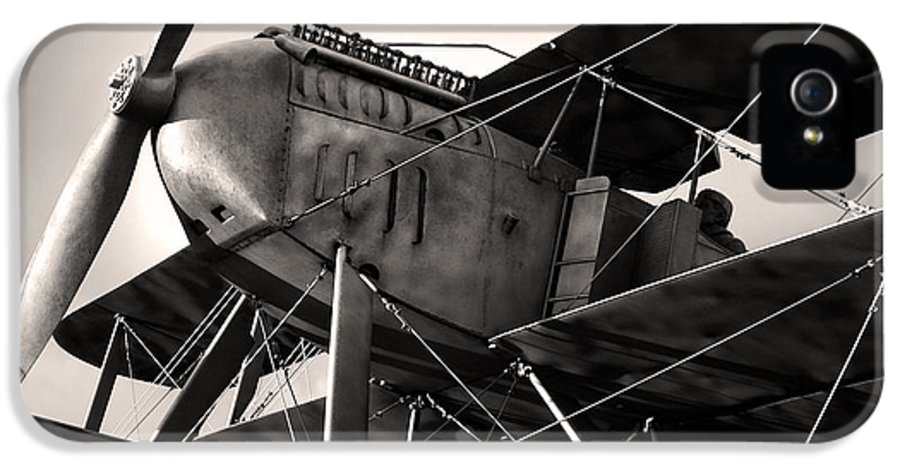 Air IPhone 5 Case featuring the photograph Biplane by Carlos Caetano