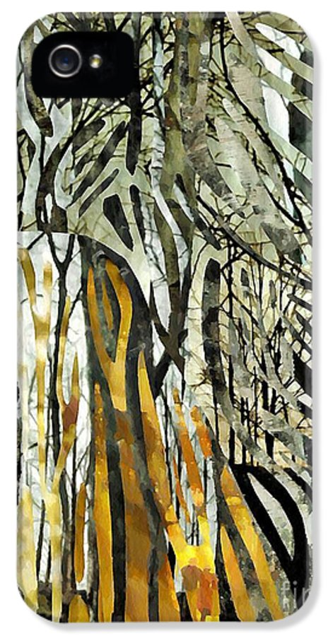 Birch Trees IPhone 5 Case featuring the mixed media Birch Forest by Sarah Loft