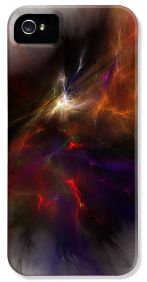 Abstract Digital Painting IPhone 5 Case featuring the digital art Birth Of A Thought by David Lane