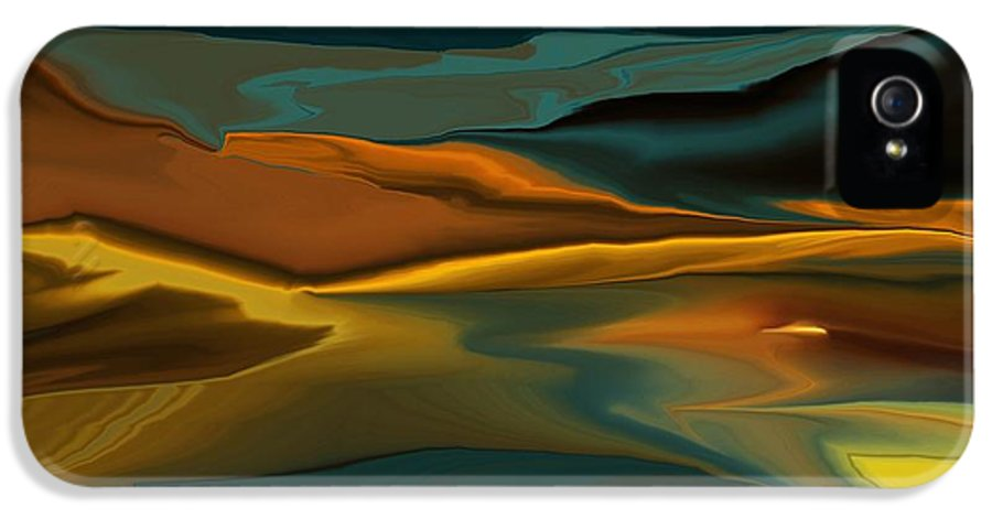Fine Art IPhone 5 Case featuring the digital art Black Hills Abstract by David Lane