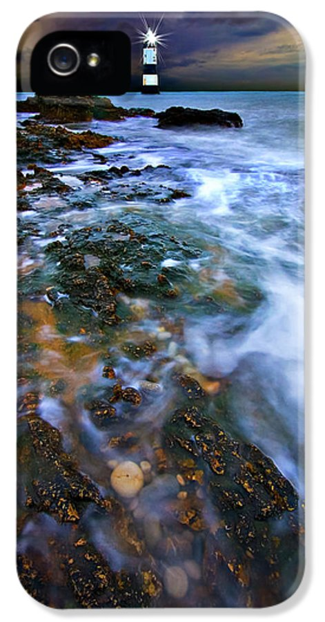 Uk IPhone 5 Case featuring the photograph Black Point Light by Meirion Matthias