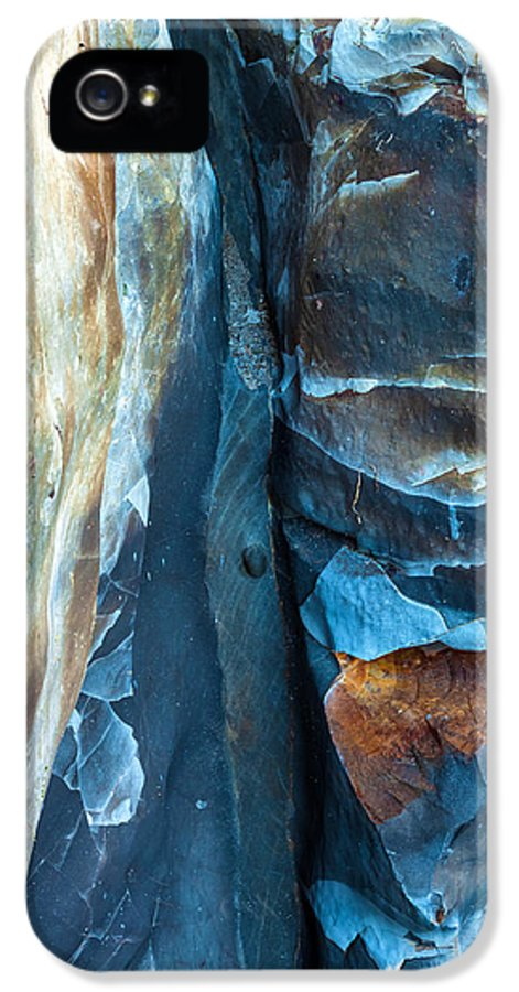 Abstract IPhone 5 Case featuring the photograph blue Pattern 2 by Jonathan Nguyen