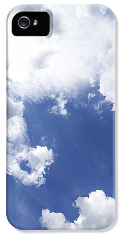 Air IPhone 5 Case featuring the photograph Blue Sky And Cloud by Setsiri Silapasuwanchai
