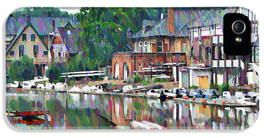 Boathouse IPhone 5 Case featuring the photograph Boathouse Row In Philadelphia by Bill Cannon