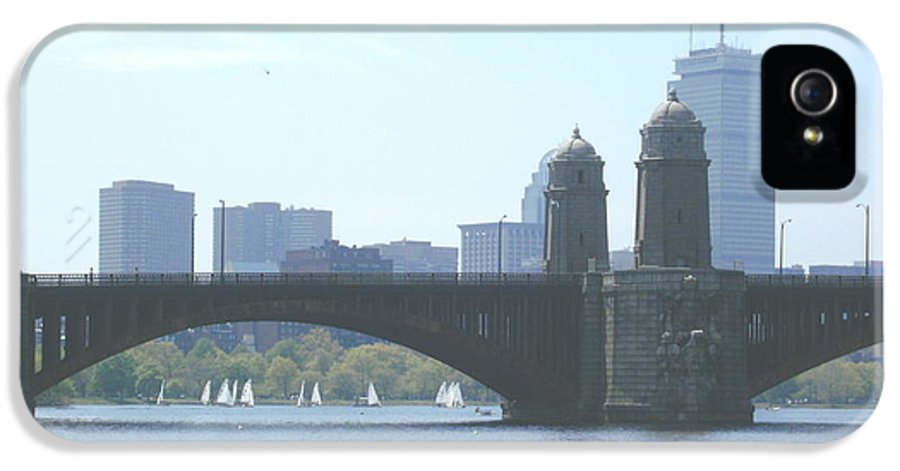 Boston IPhone 5 Case featuring the photograph Boating On The Charles by Laura Lee Zanghetti