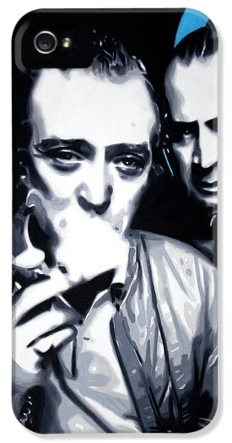 Michael Caine IPhone 5 Case featuring the painting Bob And Mic 2013 by Luis Ludzska