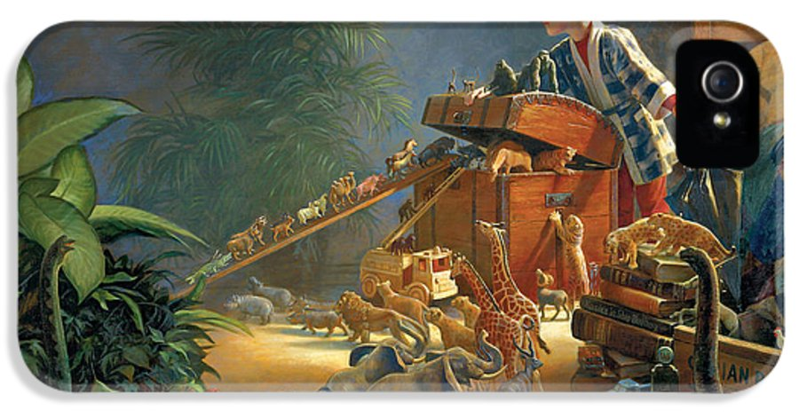 Noah's Ark IPhone 5 Case featuring the painting Bon Voyage by Greg Olsen