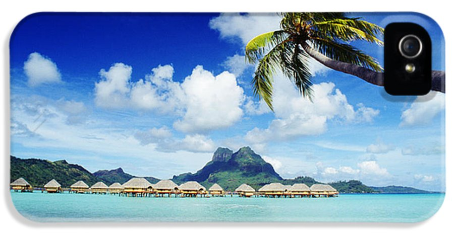 Afternoon IPhone 5 Case featuring the photograph Bora Bora, Lagoon Resort by Himani - Printscapes