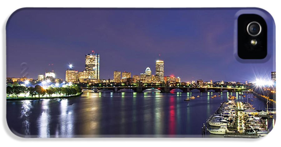 Boston IPhone 5 Case featuring the photograph Boston Harbor Skyline by Joann Vitali