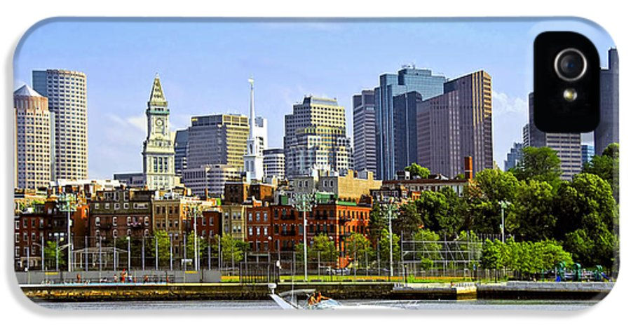 Boat IPhone 5 Case featuring the photograph Boston Skyline by Elena Elisseeva
