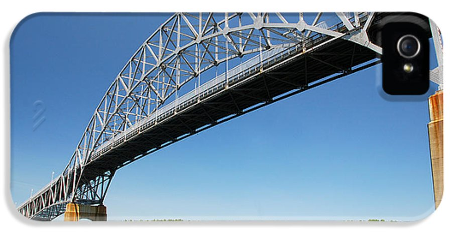 Beach IPhone 5 Case featuring the photograph Bourne Bridge Cape Cod by Mark Wiley