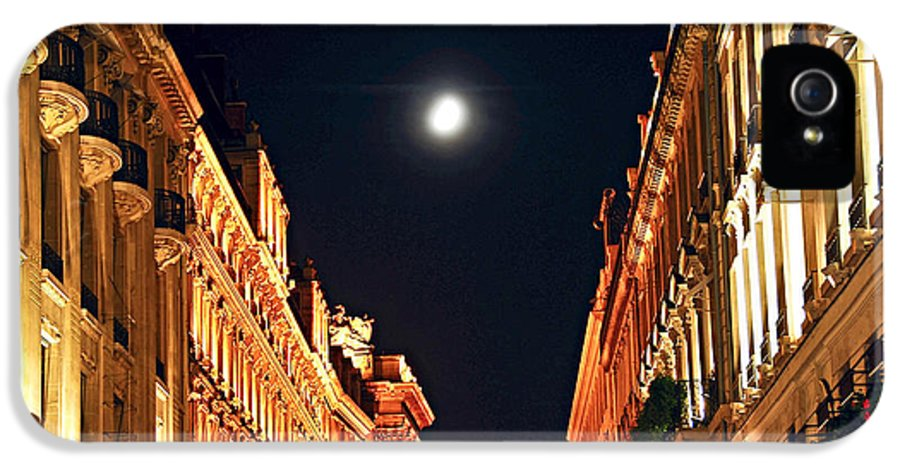 Architecture IPhone 5 Case featuring the photograph Bright Moon In Paris by Elena Elisseeva