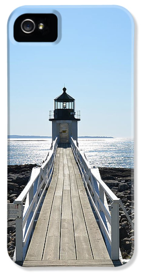 Lighthouse IPhone 5 Case featuring the photograph Brilliant Light by Corinne Rhode