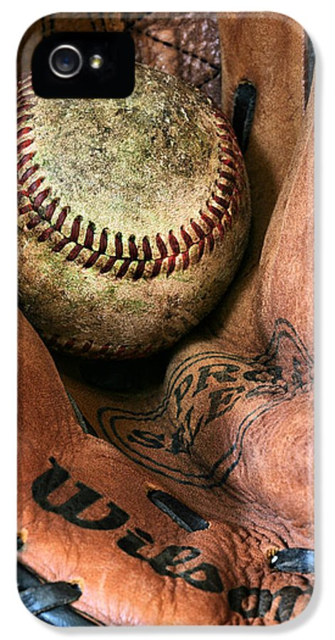 Baseball IPhone 5 Case featuring the photograph Broken In by JC Findley