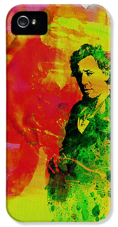 Bruce Springsteen IPhone 5 Case featuring the painting Bruce Springsteen by Naxart Studio