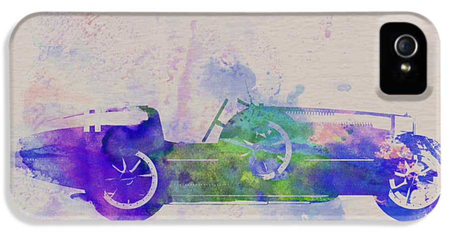 Bugatti Type 35 IPhone 5 Case featuring the painting Bugatti Type 35 R Watercolor 2 by Naxart Studio