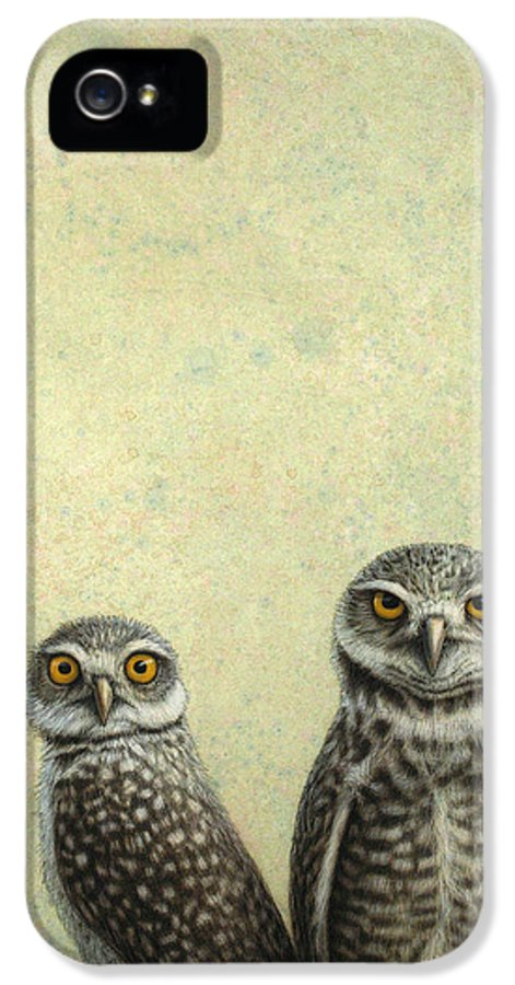 Owls IPhone 5 Case featuring the painting Burrowing Owls by James W Johnson