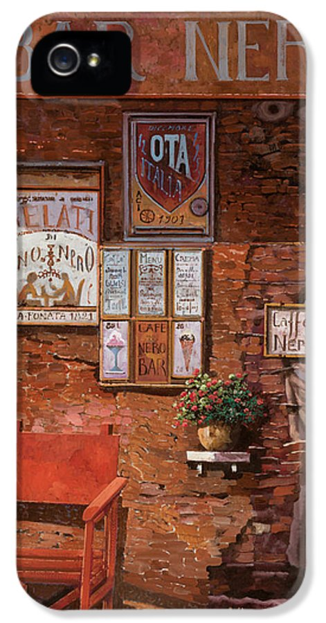 Caffe' IPhone 5 Case featuring the painting caffe Nero by Guido Borelli