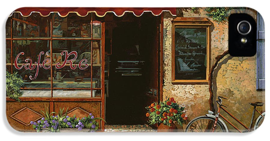 Caffe' IPhone 5 Case featuring the painting caffe Re by Guido Borelli
