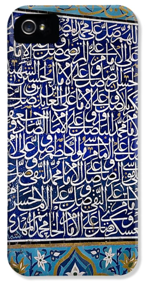 Mosaic IPhone 5 Case featuring the photograph Calligraphic Mosaic, Iran by Dirk Wiersma