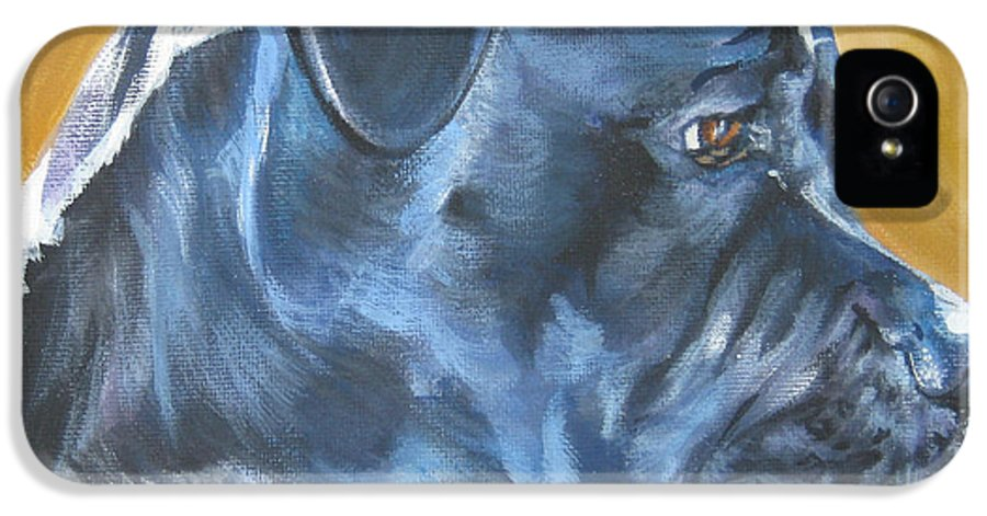 Cane Corso IPhone 5 Case featuring the painting Cane Corso by Lee Ann Shepard