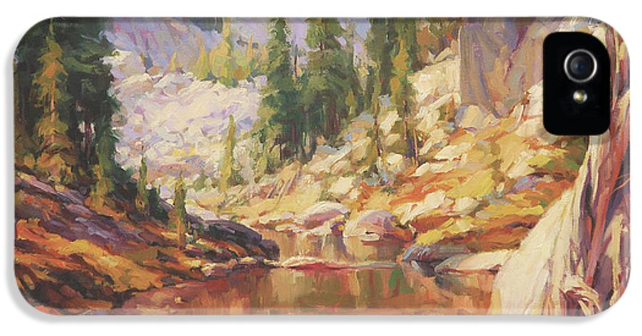 Wilderness IPhone 5 Case featuring the painting Cantata by Steve Henderson