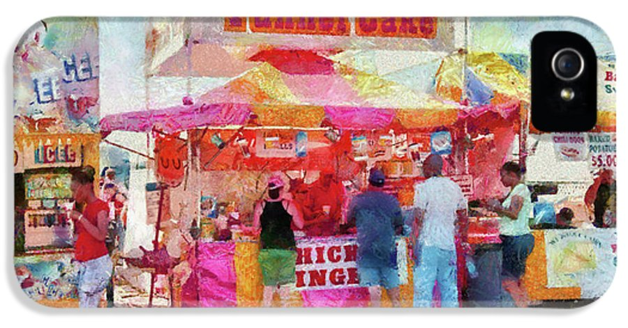 Suburbanscenes IPhone 5 Case featuring the photograph Carnival - The Variety Is Endless by Mike Savad