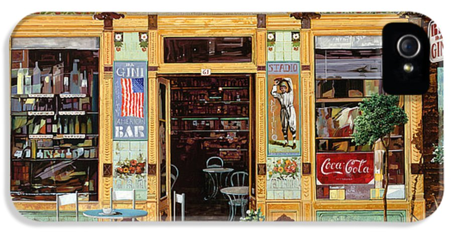 Coffe Shop IPhone 5 Case featuring the painting Casa America by Guido Borelli