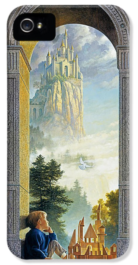 Castles IPhone 5 Case featuring the painting Castles In The Sky by Greg Olsen
