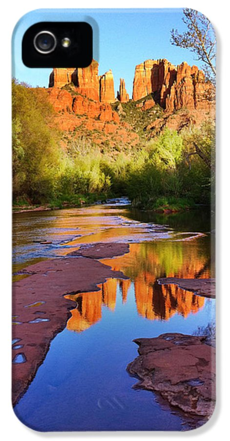 Iphoneography IPhone 5 Case featuring the photograph Cathedral Rock Sedona by Matt Suess
