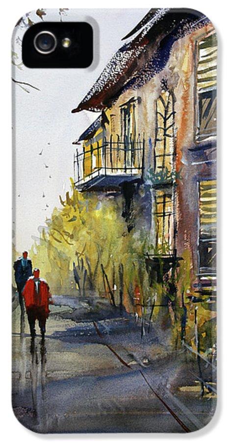 Ryan Radke IPhone 5 Case featuring the painting Cedarburg Shadows by Ryan Radke