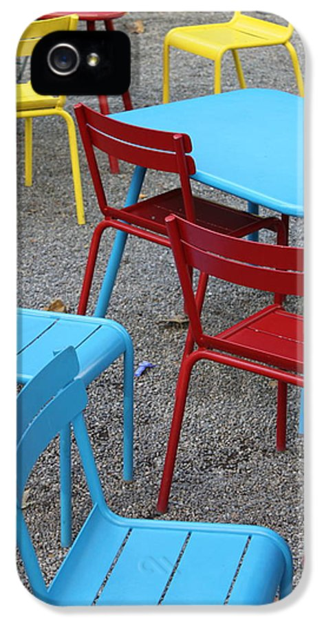 Chairs IPhone 5 Case featuring the photograph Chairs In Bryant Park by Lauri Novak