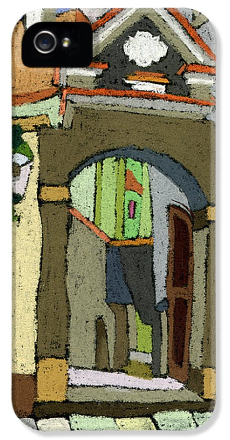 Pastel IPhone 5 Case featuring the painting Chesky Krumlov Old Street Latran by Yuriy Shevchuk