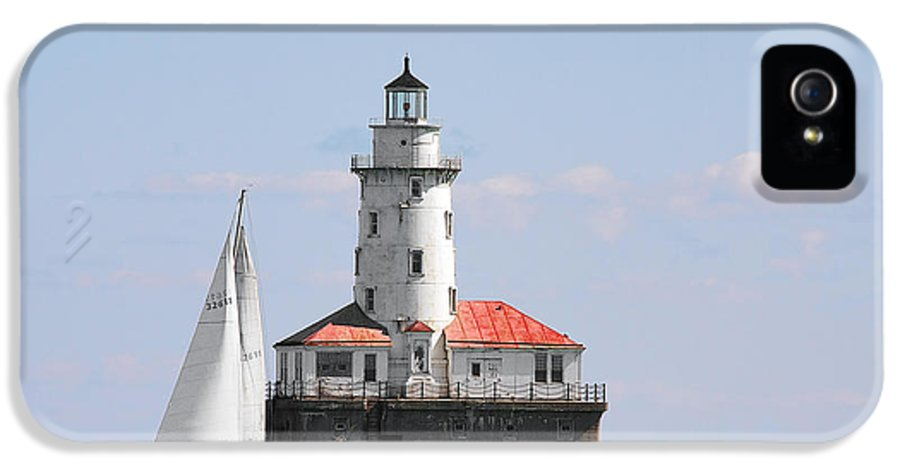 Chicago IPhone 5 / 5s Case featuring the photograph Chicago Harbor Lighthouse by Christine Till