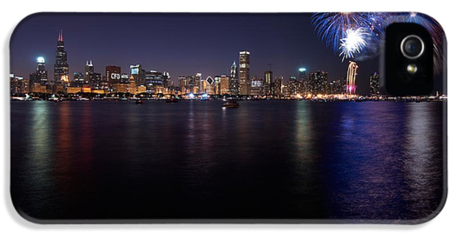 4th IPhone 5 Case featuring the photograph Chicago Lakefront Skyline Poster by Steve Gadomski