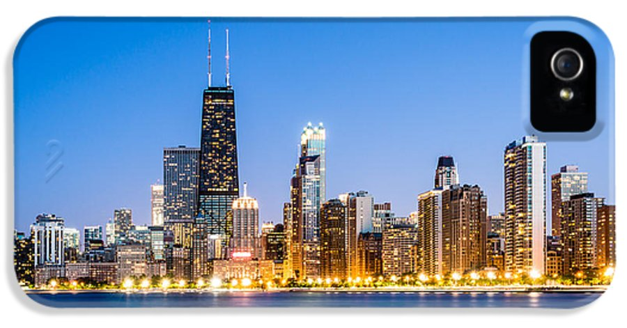 America IPhone 5 Case featuring the photograph Chicago Skyline At Twilight by Paul Velgos