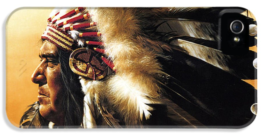 Native American IPhone 5 Case featuring the painting Chief by Greg Olsen