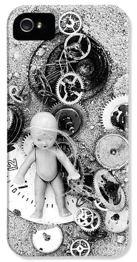 Abstract IPhone 5 Case featuring the photograph Child In Time by Michal Boubin