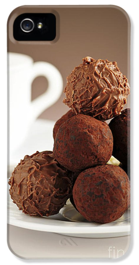 Chocolate IPhone 5 Case featuring the photograph Chocolate Truffles And Coffee by Elena Elisseeva