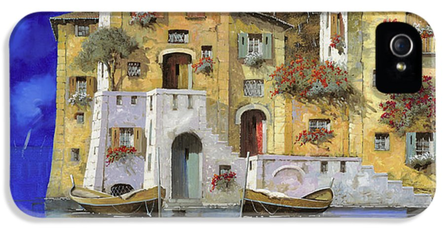 Landscape IPhone 5 Case featuring the painting Cieloblu by Guido Borelli