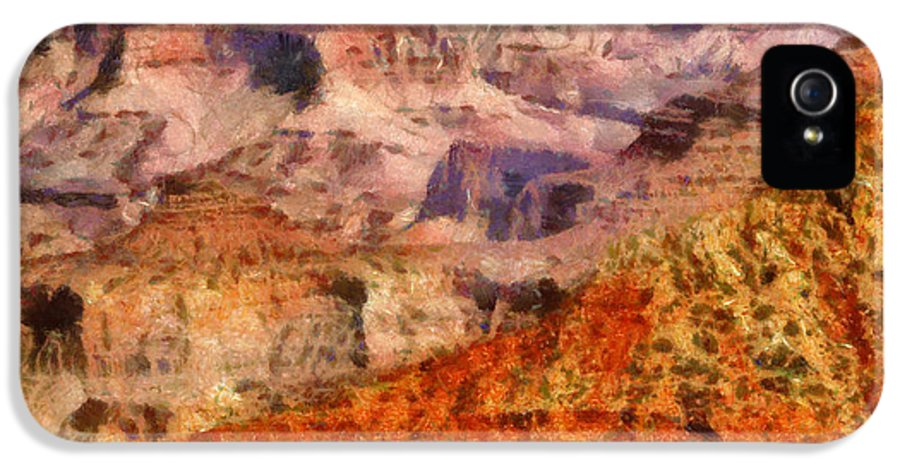 Savad IPhone 5 Case featuring the photograph City - Arizona - Grand Canyon - Kabob Trail by Mike Savad