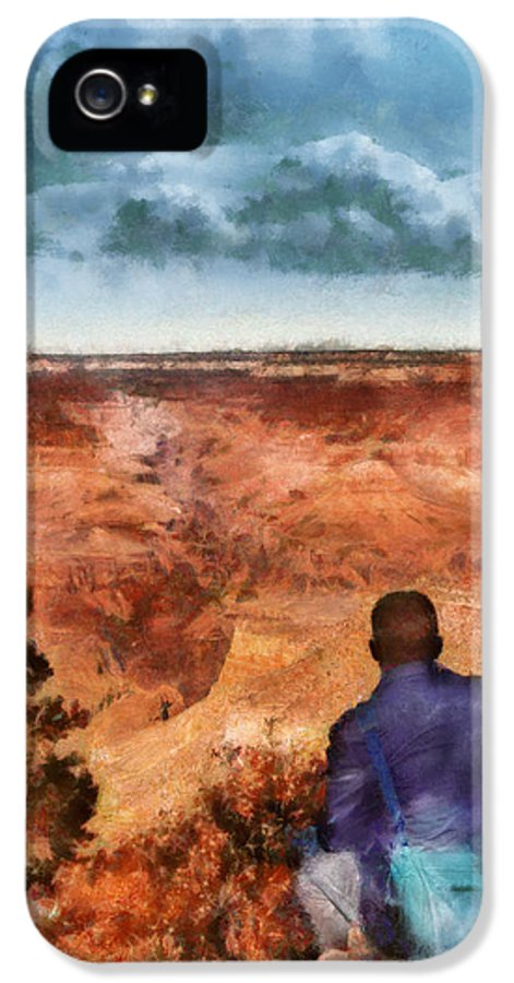 Savad IPhone 5 Case featuring the photograph City - Arizona - Grand Canyon - The Vista by Mike Savad