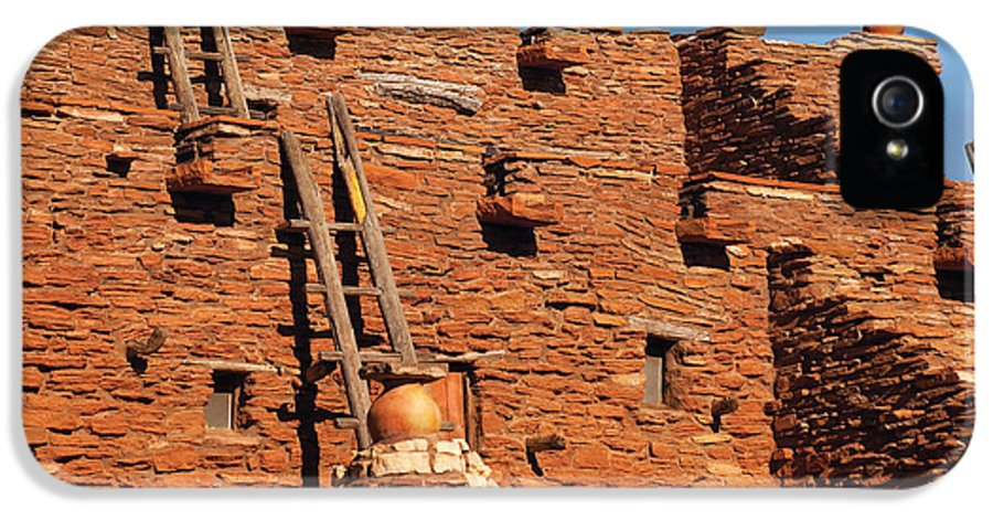 Savad IPhone 5 Case featuring the photograph City - Arizona - Pueblo by Mike Savad